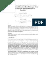 Object-Relational Database Based Category Data Model for Natural Language Interface to Database