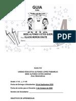 GUIA # 03   4° GRADO FRACCIONES EQUIVALENTES