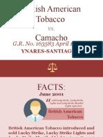 14. British American Tobacco v Camacho.pptx