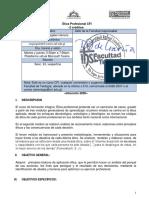 Ética Profesional CFI Programa