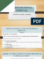 DELITOS CONTRA LA VIDA E INTEDRIDAD JAVERIANA 2020.2