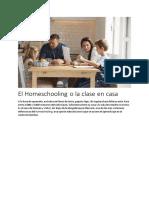 El Homeschooling o la clase en casa