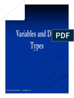 Variables and Datatypes