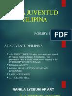 Rizal( A la juvintud filipina