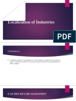 Localization of Industries