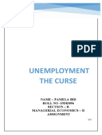 Unemployment the Curse