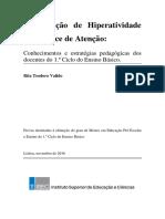 PHDA_ Conhecimentos e estratégias pedagógicas dos docentes do EB1
