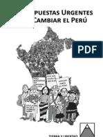 25 Propuestas Urgentes Para Cambiar El Perú