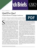Quid Pro Quo? Corporate Returns to Campaign Contributions