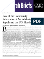 Role of the Community Reinvestment Act in Mortgage Supply and the U.S. Housing Boom