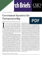 Government Incentives for Entrepreneurship