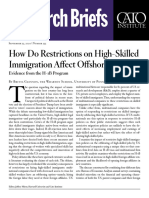 How Do Restrictions on High‐​Skilled Immigration Affect Offshoring