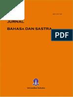 2013 1 1 Jurnal Bahasa Dan Sastra