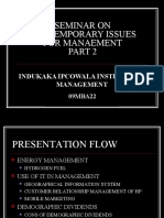 Seminar on Contemporary issues in management 3