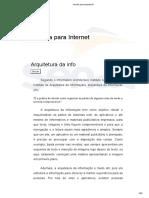 Arquitetura da informação - Téc. Informática Senac