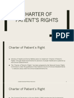 Charter of patient's rights