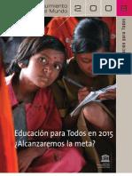 Unesco. Educacion Para Todos en 2015