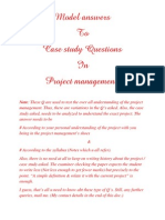 Project Management (Sample case study solved example)