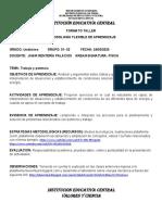 FORMATO TALLER METODOLOGÍA FLEXIBLE DE APRENDIZAJE 11.