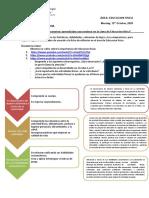 LESSON DE REFLEXIÓN primer sec. - EDUCACION FISICA III BIM 2020