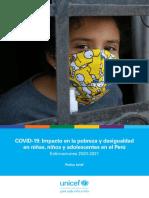 UNICEF Impacto COVID19 Pobreza y Desigualdad