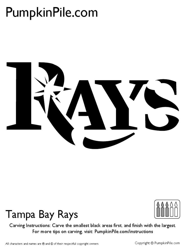 Tampa Bay Rays Stencil