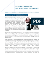 THE REASONS WHY A STUDENT SHOULD STUDY ENGLISH LITERATURE