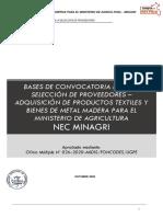 BASES CONVOCATORIA DE PROVEEDORES - NEC MINAGRI