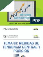 MEDIDAS DE TENDENCIA CENTRAL Y POSICIÓN - tema 03.ppt