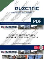 Mantenimiento y pruebas eléctricas a Interruptores de media y alta tension