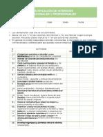 test de IDENTIFICACIÓN DE INTERESES VOCACIONALES Y PROFESIONALES