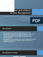 Recognition and Effects of Non Recognition