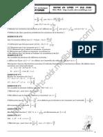 Série d'exercices - Math - Généralités sur les fonctions - 3ème Technique