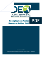 Re-employment Assistance Resource Guide - COVID-19 (version May 3rd 2020)