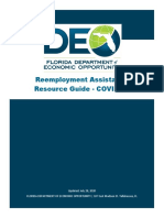 Re-employment Assistance Resource Guide - COVID-19 (version July 28th 2020)