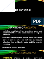 7724 [11] The Hospital and Pertinent Laws and Regulations