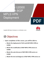 7_ iManager U2000 Full-Mesh BGP MPLS VPN Deployment ISSUE1.00