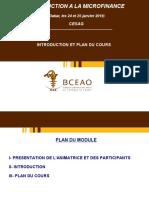 MODULE 0 - INTRODUCTION ET PLAN DU  COURS PDF