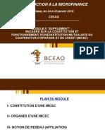 MODULE 2 SUPPLEMENT- ENCADRE SUR CONSTITUTION ET FONCTIONNEMENT D'UNE IMCEC PDF