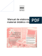 Manual  de material didático impresso
