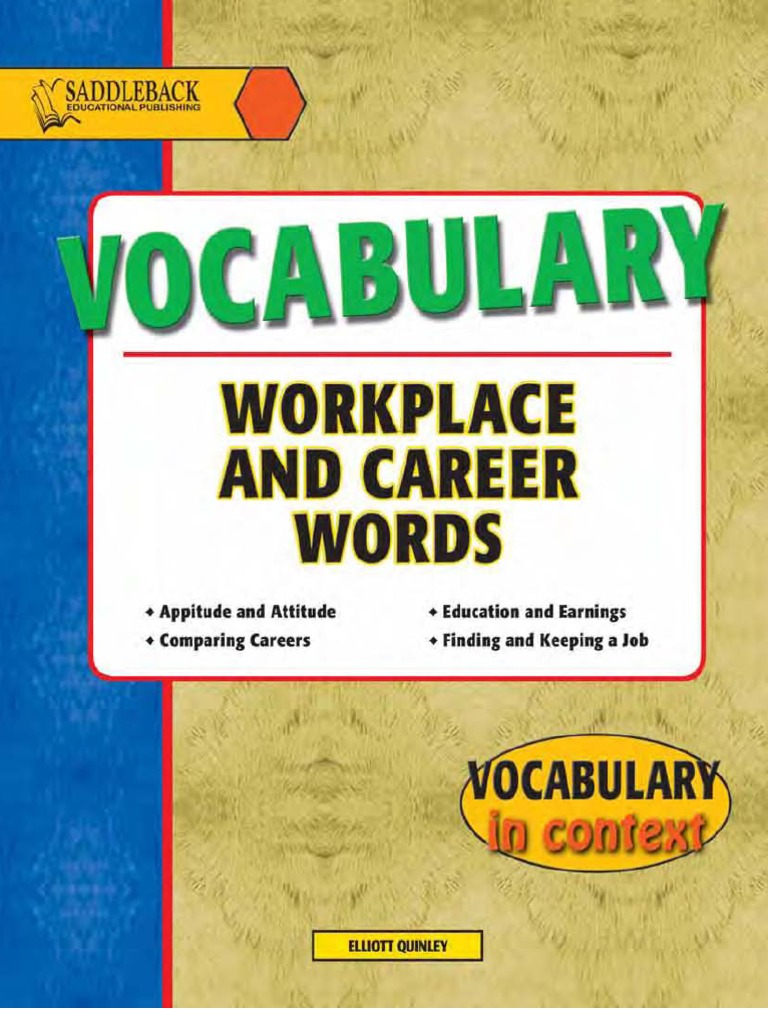 Vocabulary Workplace and Career Words - 115p | Emergency Medical ...