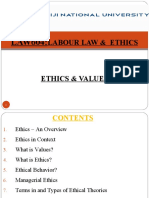 LAW604 - Week 3 ETHICS AND VALUES(revised)