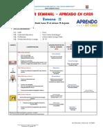 PLANIFICADOR SEMANAL APRENDO EN CASA  - SEMANA 11-2° E-MARIA