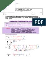 Guía n°8 de matemática