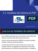 2.3 Obtener Variables Del Sistema