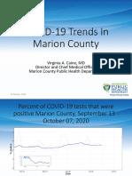 Marion County Public Health Department Presentation 10-15-2020