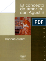 El concepto de amor en san Agustin - Hannah Arendt.pdf