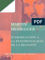 Martin Heidegger.  Introducción a la Fenomenología de la Religión. Prólogo y Traducción de Jorge Uscatescu.pdf