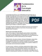 fundamento de psicología educativa