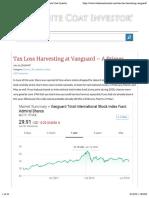 Tax Loss Harvesting at Vanguard - A Primer | White Coat Investor copy